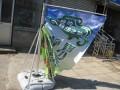 北京组合式铝纤维注水材料世界旗