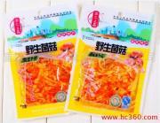 供应重庆小吃热卖特产休闲美食香辣金针菇厂家批发火暴销售中