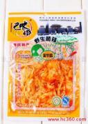 供应重庆小吃热卖特产休闲美食香辣金针菇厂家批发火爆销售中