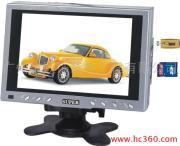 供应7寸车载液晶显示器+USB插卡+录像监控